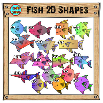 Fish 2D Shapes Clip Art
