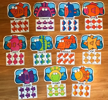 Fish Shapes Sorting Mats