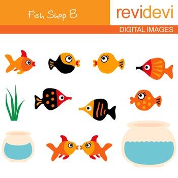 Fish Shop B Clip art - digital clipart