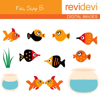 Fish Shop B Clip art - digital clipart