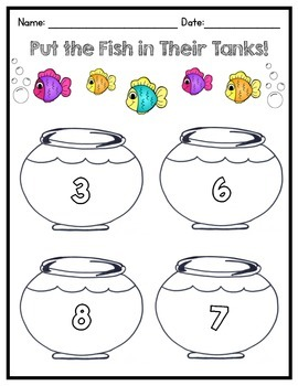 Fish Tank Counting Printable