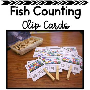 Fish Tank Counting to 20 Clip Cards