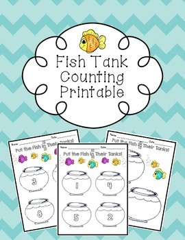 Fish Tank Counting Printable