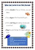 Fish Tank Journal Class Pet Writing Activity