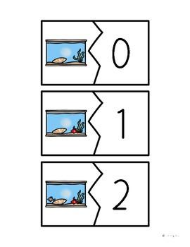Fish Tank Number Puzzles 1-10 Math Center