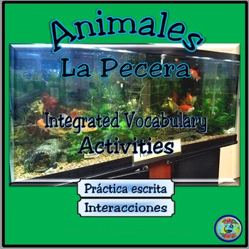 Fish Tank Observation Vocabulary Activity - La Pecera