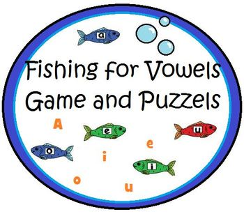 Fishing Game with letters and vowel pictures
