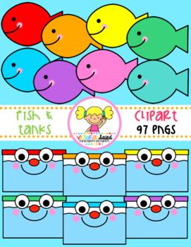 Fish & Tanks Clipart