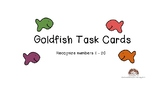 Fish Task Cards Identify Draw Numbers 1-20