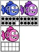 Fish Ten Frame Count and Match ( #0 - 20 )/Math Center
