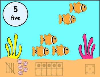 Number Posters 1-20, Fish Theme