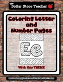 Fish - Theme Coloring Letter and Number 0 - 10 (37 Pages) *s