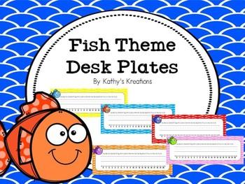 Fish Theme Desk Plates