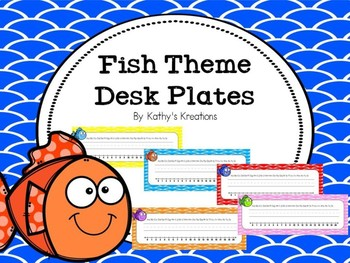 Fish Desk Plates