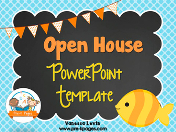 Fish Theme Open House ~ Back-to-School ~ PowerPoint Templa