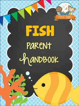Fish Theme Parent Handbook Back-to-School {personalize it}