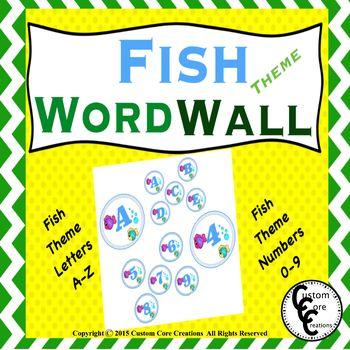 Fish Theme Word Wall