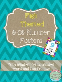 Fish Themed 0-20 Numbers Posters