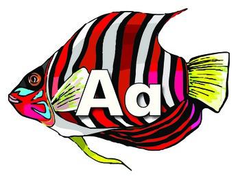 Fish Themed Alphabet Cards