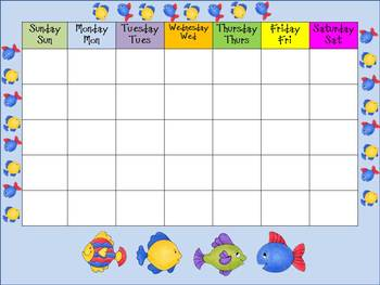 Fish Themed Back to School Classroom Organization Kit