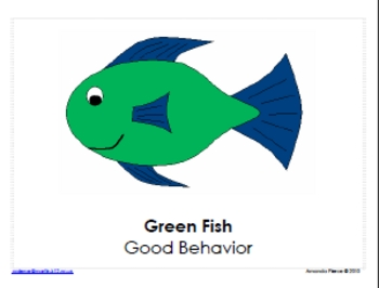 Fish Themed Behavior Clip Chart AND Take Home Chart - Version 2