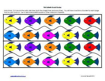Fish Themed Bulletin Board Border