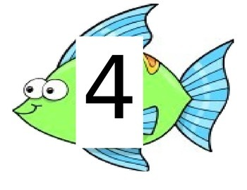 Fish Themed Classroom Table Numbers