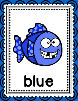 Fish Themed Color Word Posters