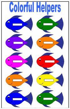 Fish Themed Helper Chart