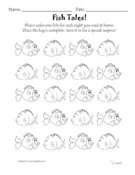 Fish Themed Reading Log
