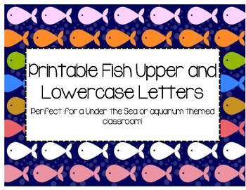 Fish Upper and Lower Case Letters