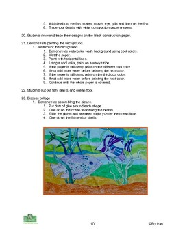 Fish Visual Arts Lesson for grades K to 6
