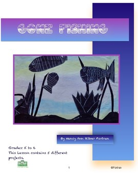 Fish Visual Arts Lesson for grades K to 6