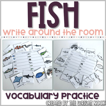 Fish Vocabulary Practice - Write The Room
