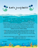 """Fish Welcome Letter """"Let's Jump In"""""""