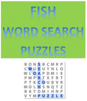 Fish Word Search Puzzles