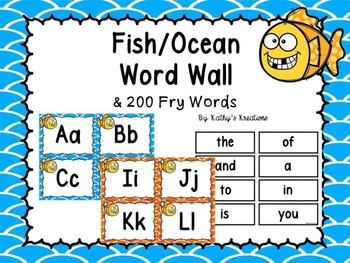 Fish Word Wall and 200 Fry Words