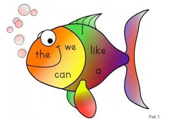 Fish Words for Kindergarten Treasures