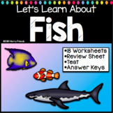 Fish Worksheets and Activities with Test and Answer Keys