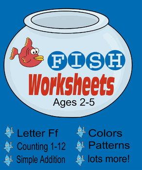Fish Worksheets for Preschool and Kindregarten