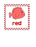 Fish and Chevron Themed Color Words