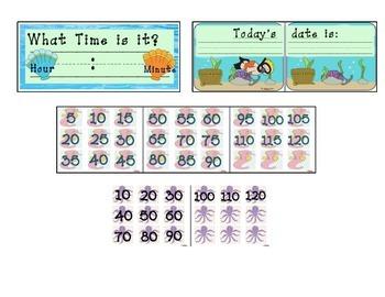 Fish and Diver Calendar Math Mega Pack