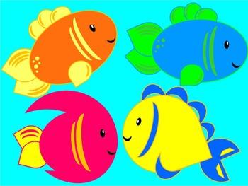 Fish and Fish Bowl Clip Art