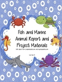 Fish and Marine Animal Expository Writing and Project Materials!