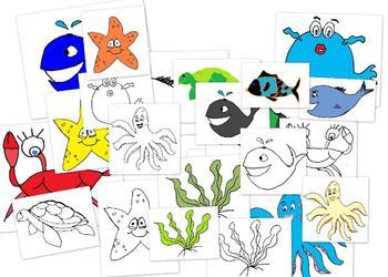Fish and More Ocean Life Clip art set