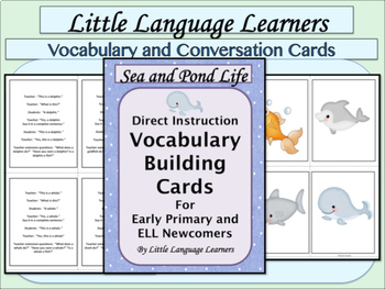 Fish and Sea Life Vocabulary/Concept Development ELL Newcomers Too