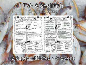 Fish and Shellfish (Chapter 15) Notes Plus Answers for Intro to Culinary