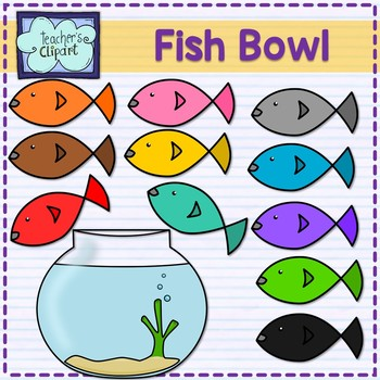 Fish bowl and fish Clip art by Teacher's Clipart   TpT (350 x 350 Pixel)
