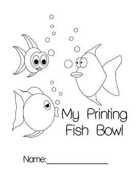 Fish bowl number printing book