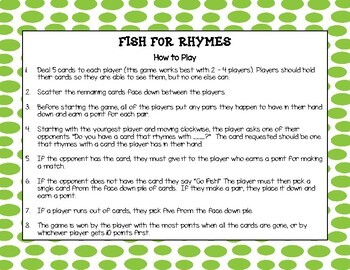 Fish for Rhymes - Level 1